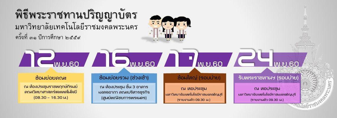 พิธีพระราชทานปริญญาบัตร ปีการศึกษา 2559